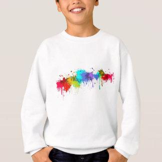 Sweatshirt sujets d'éclaboussure de paintball