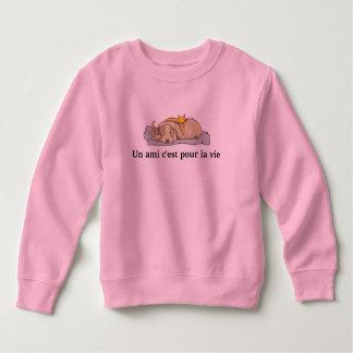 Sweatshirt sweat-shirt enfant chien-chat, manches longues