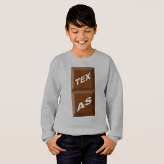 SWEATSHIRT SWEAT-SHIRT  HANES   ACIER CLAIR  TEXAS  CHOCOLAT