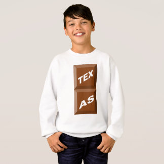 SWEATSHIRT SWEAT-SHIRT   HANES  BLANC  TEXAS  CHOCOLAT