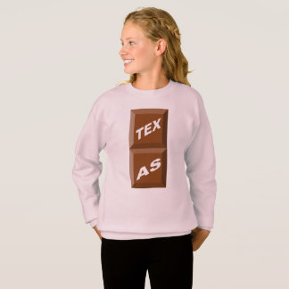 SWEATSHIRT SWEAT-SHIRT HANES  ROSE  PALE  TEXAS  CHOCOLAT