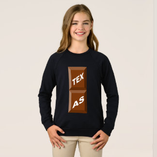 SWEATSHIRT SWEAT-SHIRT  RAGLAN  NOIR  TEXAS  CHOCOLAT
