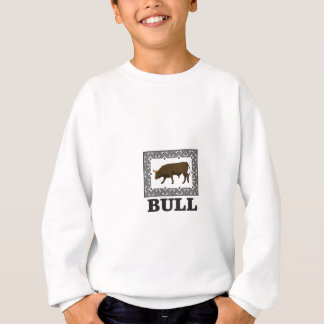 Sweatshirt taureau brun encadré