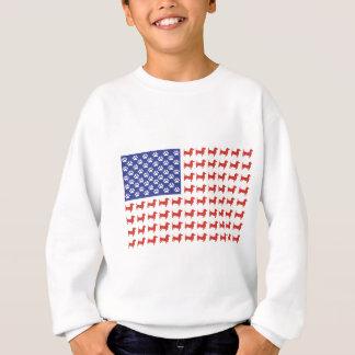 Sweatshirt Teckel des Etats-Unis