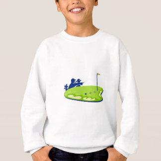 Sweatshirt Terrain de golf de caddie de golfeur rétro