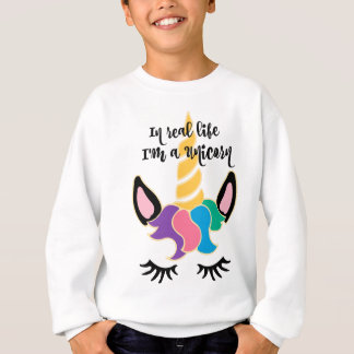 Sweatshirt Tête d'arc-en-ciel de licorne