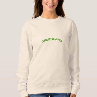 Sweatshirt Texte de voûte du Groenland