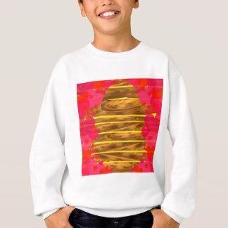 Sweatshirt Texture en bois de coeurs