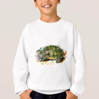 Sweatshirt tortue de terrapin de dos en forme de losange de