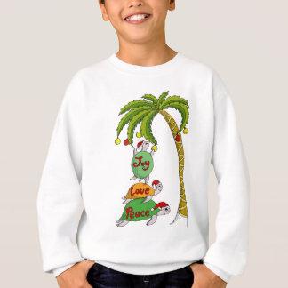 Sweatshirt Tortue hawaïenne Santa de Noël