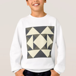 Sweatshirt Triangles de noir et d'or
