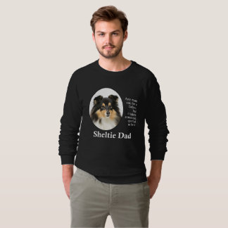 Sweatshirt tricolore de papa de Sheltie