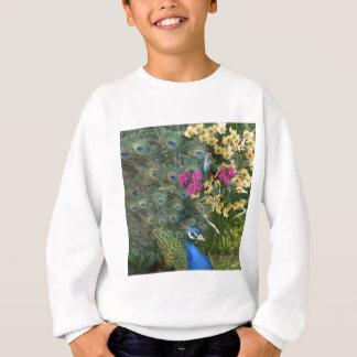 Sweatshirt Un paon et la colombe dans un monde des orchidées