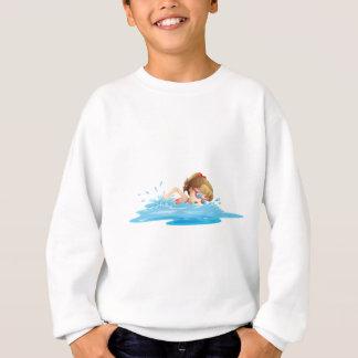 Sweatshirt Une fille portant une natation rose de vêtements