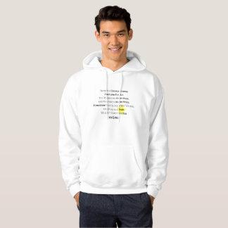 Sweatshirt une fois pour toutes à capuchon