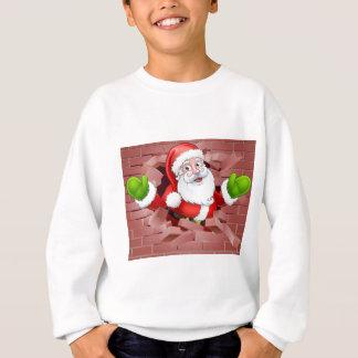 Sweatshirt Une illustration de Noël de Père Noël traversant