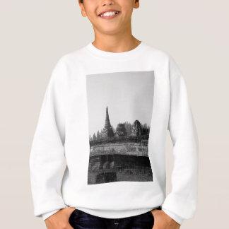 Sweatshirt Une image noire et blanche d'un vieux temple
