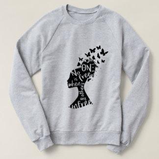 """Sweatshirt unisexe """"Unfree"""" du NU XI de thêta"""