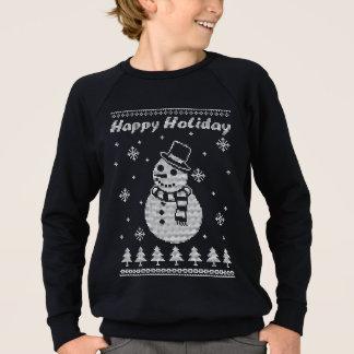 Sweatshirt Vacances heureuses de bonhomme de neige