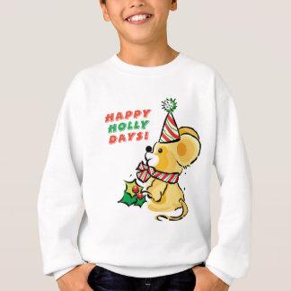 Sweatshirt Vacances heureuses de jours de houx de chiot