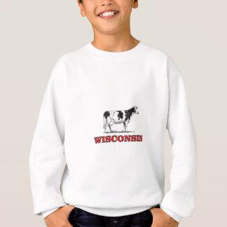 Sweatshirt vache rouge au Wisconsin