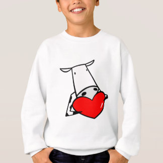 Sweatshirt Vaches à amour de Valentine I de coeur de vache