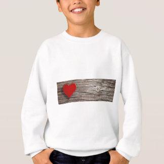 Sweatshirt Valentines naturels de coeur