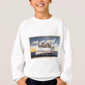Sweatshirt Vapeur Naushon, ligne de bateau à vapeur de
