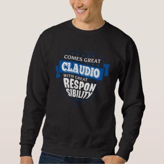 Sweatshirt Venez grand CLAUDIO. Anniversaire de cadeau