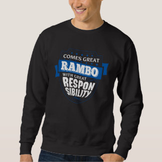 Sweatshirt Venez grand RAMBO. Anniversaire de cadeau