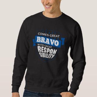 Sweatshirt Venez le grand BRAVO. Anniversaire de cadeau