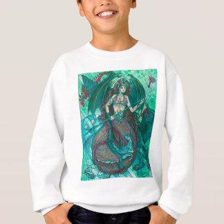 Sweatshirt Vert de Teal de mer d'océan de licorne de sirène