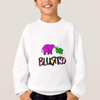Sweatshirt vert et rose de logo de blurtso