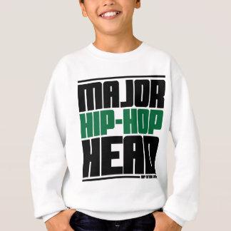 Sweatshirt Vert principal de tête de hip hop