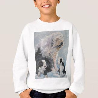 Sweatshirt Vieille peinture anglaise de chien de berger de
