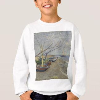 Sweatshirt Vincent van Gogh - bateaux de pêche sur Saintes