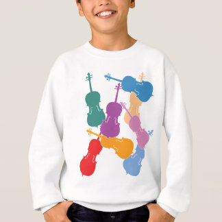 Sweatshirt Violoncelles colorés