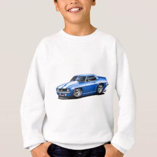 Sweatshirt Voiture 1969 Bleu-Blanche de Camaro solides