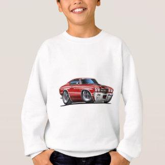 Sweatshirt Voiture 1970 Marron-Noire de Chevelle