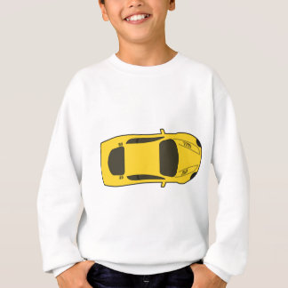 Sweatshirt Voiture de sport jaune