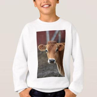 Sweatshirt Vous ne me pensez pas suis jolie vache du Jersey