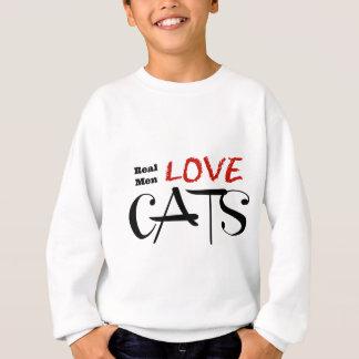 Sweatshirt Vrais chats d'amour d'hommes