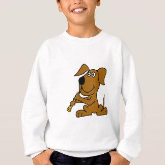 Sweatshirt XX chien drôle de Brown jouant la clarinette
