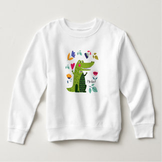 Sweatshirts drôles de bébé de cadeau de crocodile