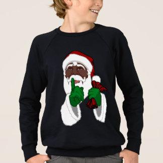 Sweatshirts noirs de Père Noël de l'enfant de