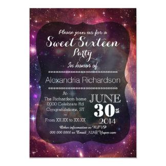 Sweet sixteen d'arrière - plan de l'espace de carton d'invitation  12,7 cm x 17,78 cm