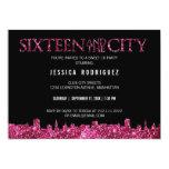 Sweet sixteen et la fête d'anniversaire du bonbon invitations personnalisables