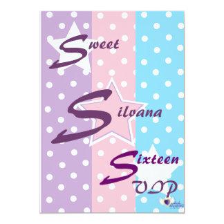 Sweet sixteen personnalisé par VIP Carton D'invitation 12,7 Cm X 17,78 Cm
