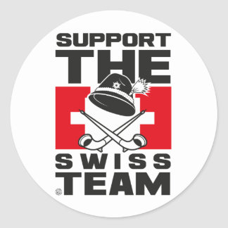 SWISS TEAM STICKER ROND