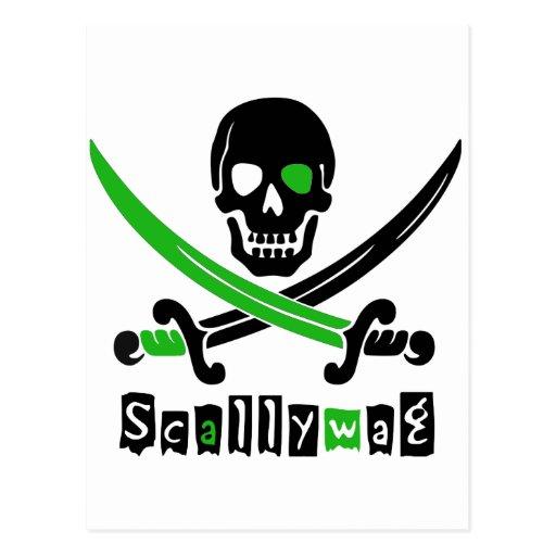 &Swords de crâne de PIRATE Carte Postale